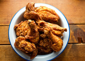 Crispy Fried Chicken on white plate